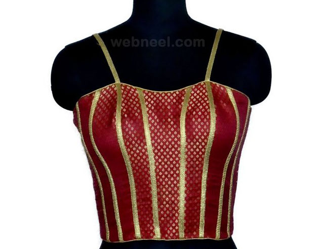 spaghetti strap blouse design