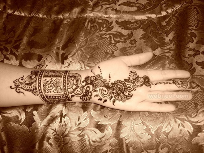 mehndi design casual