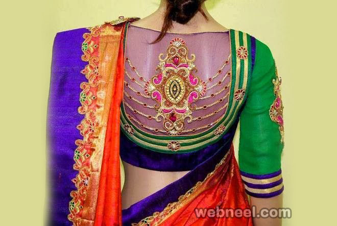 net blouse design