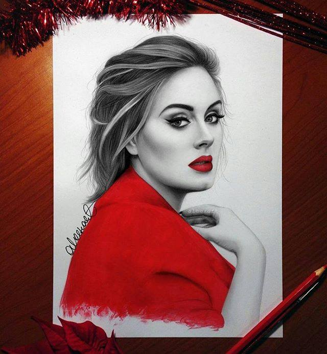 color pencil drawing by aleexart