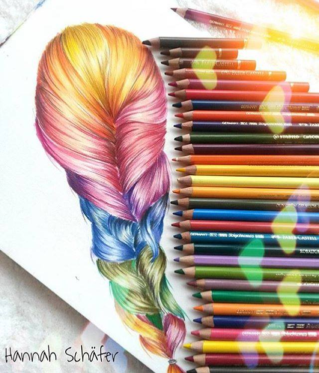 color pencil drawing by hannah schafer
