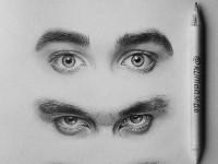 realistic-eyes-drawing-by-klimdashaa