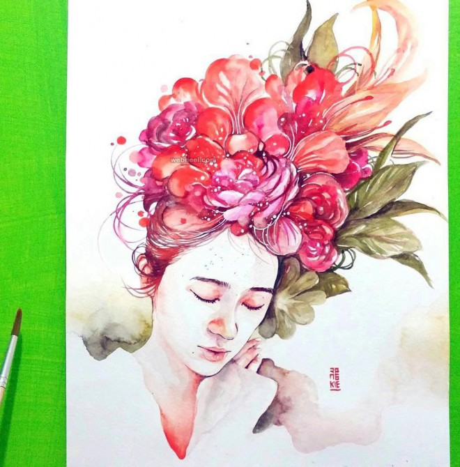 vibrant watercolor painting