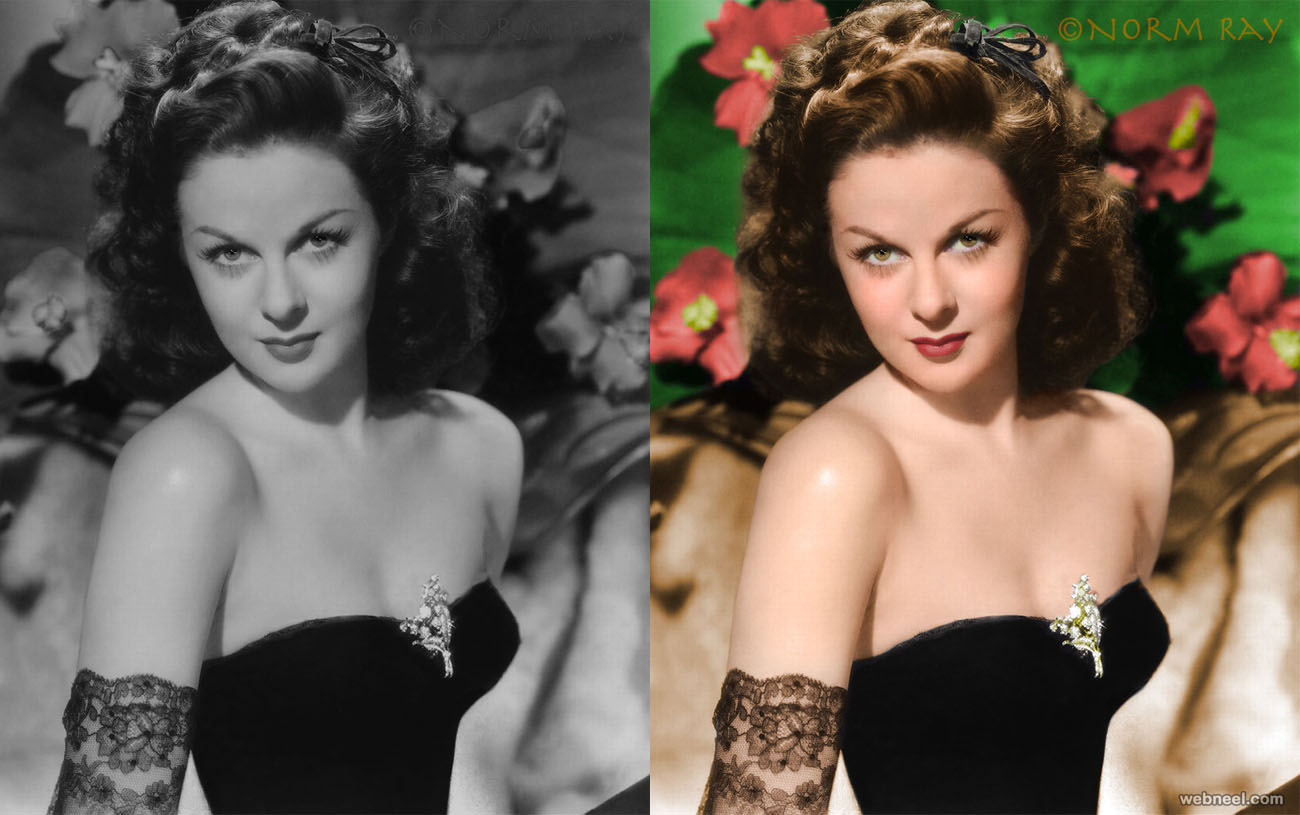 colorize old photos susan hayward