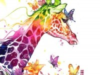 2-giraffe-watercolor-painting-by-luqmanreza