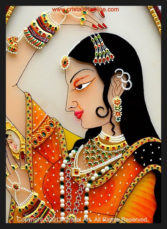 rajput painting princess by cristalartonline