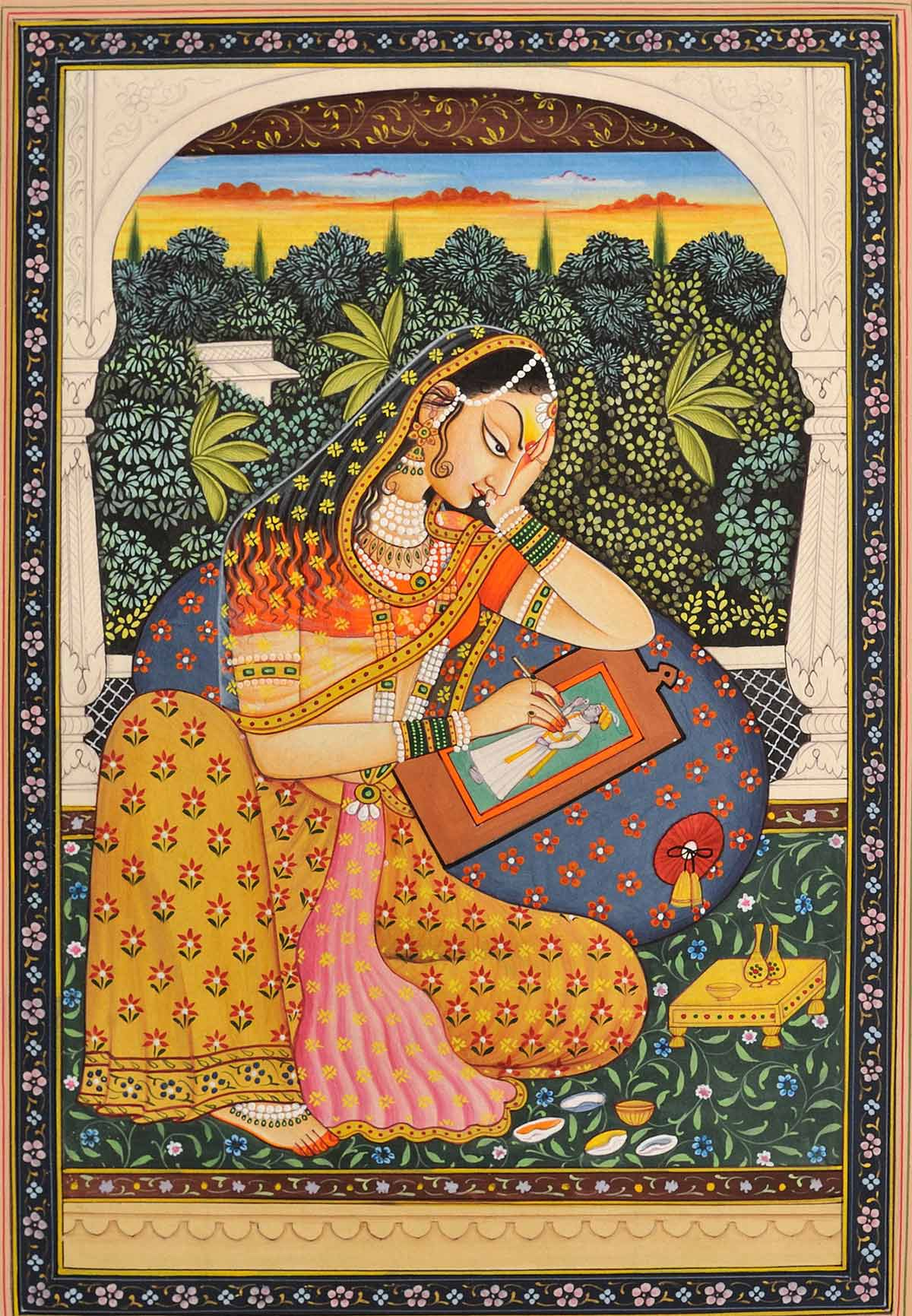 princess rajasthani rajput painting
