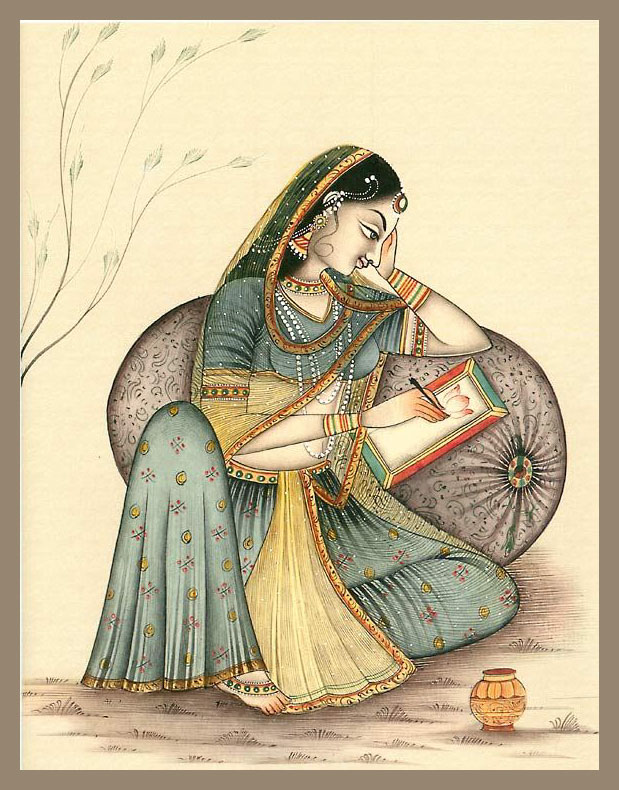 princess rajasthani rajput painting by exoticindiaart