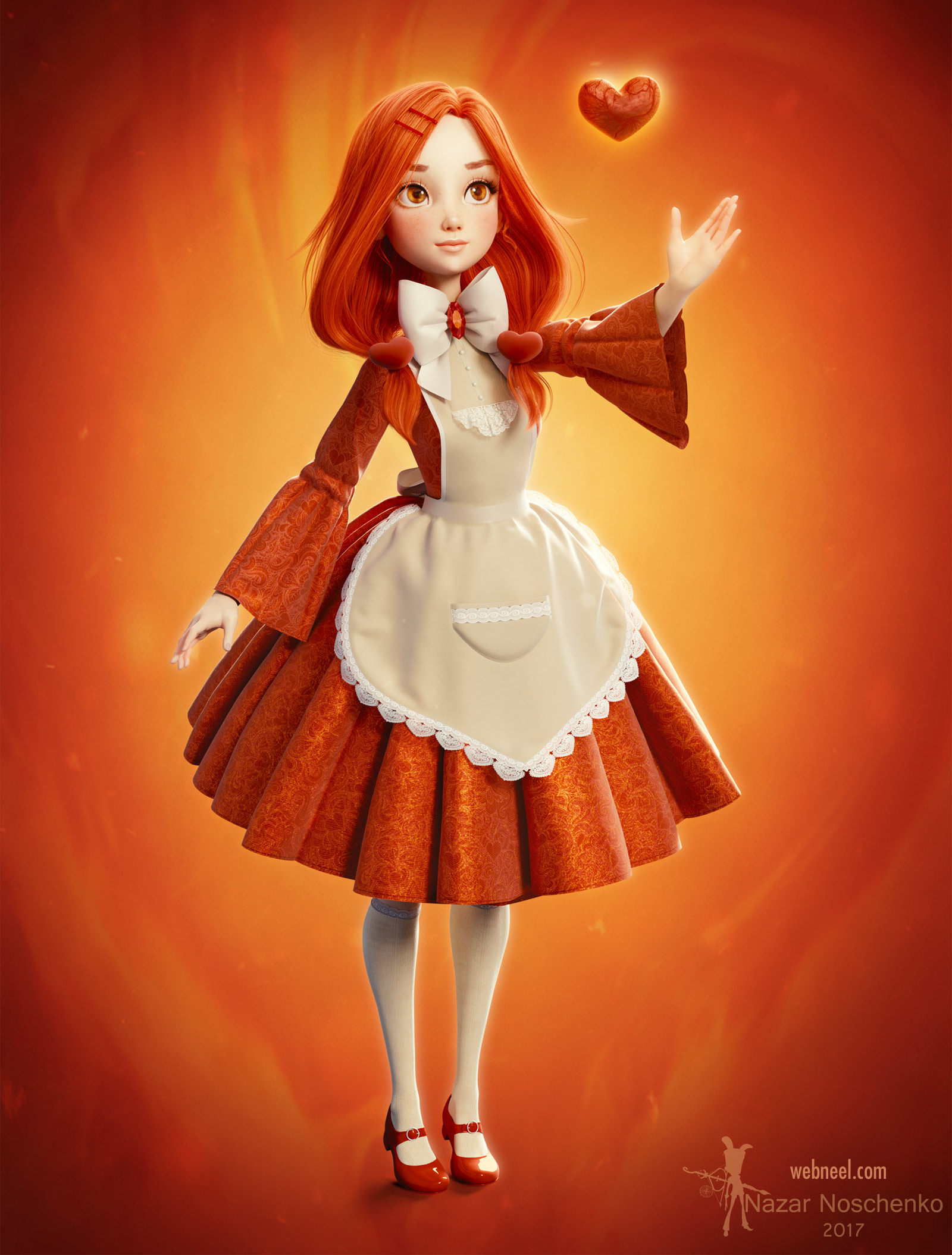 3d blender model fantasy girl by nazar noschenko