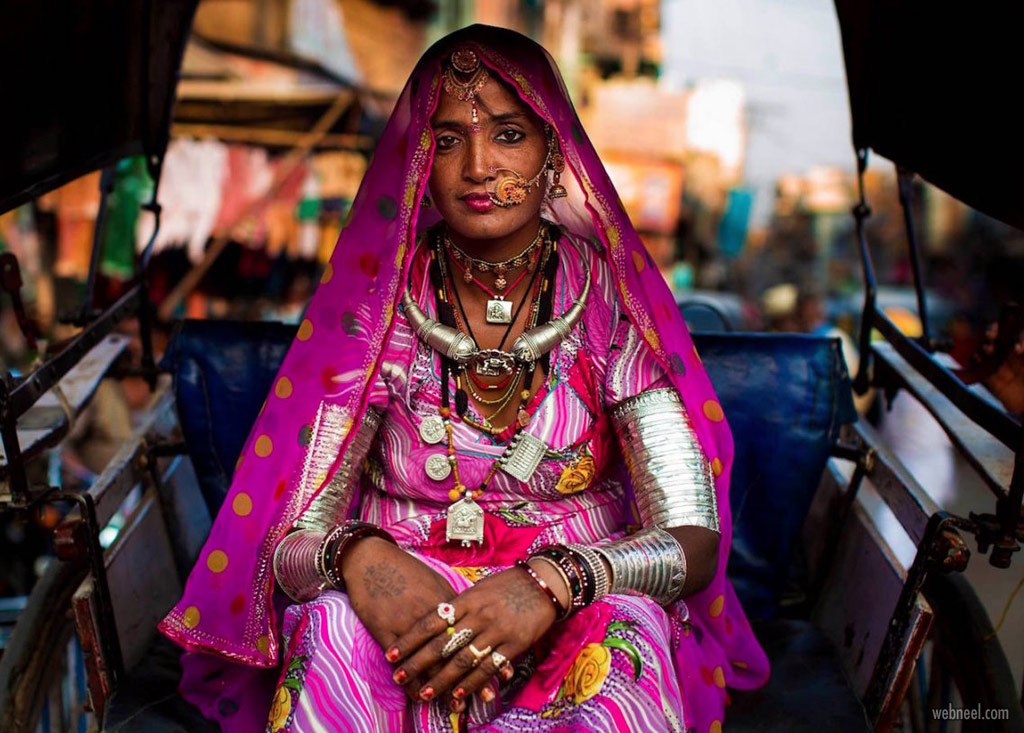 world famous photo woman indian rajasthan