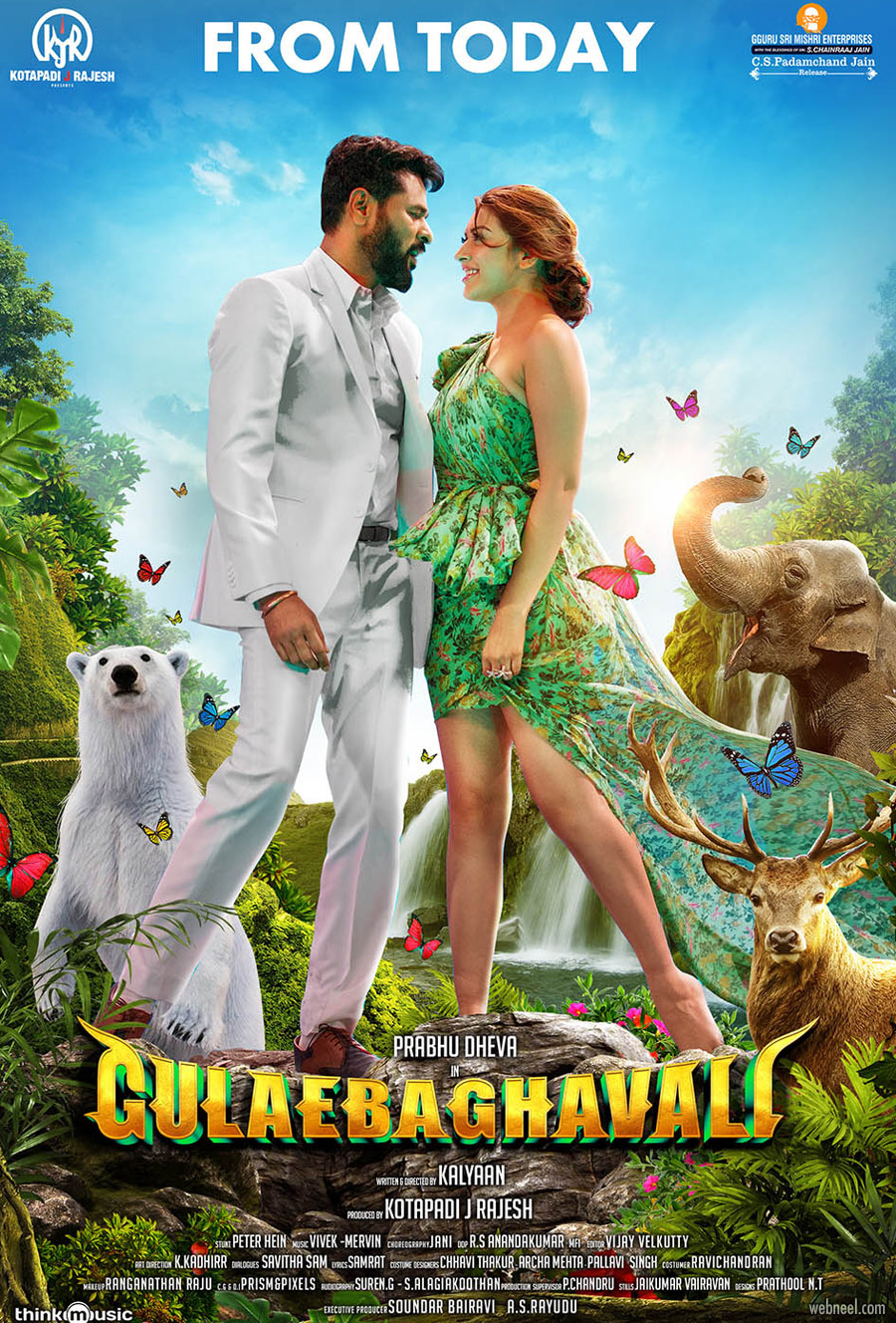 movie poster design india tamil gulebakavali by prathoolnt