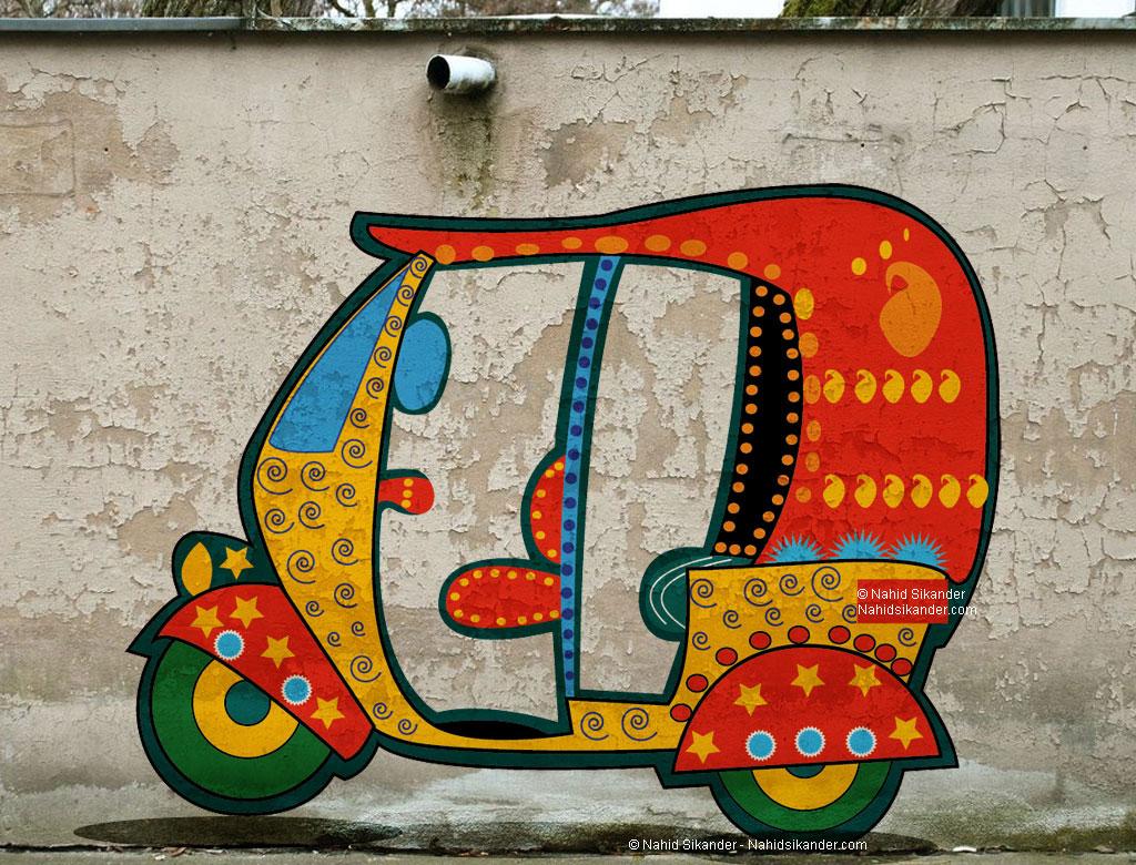 indian street painting auto bystartfoundation