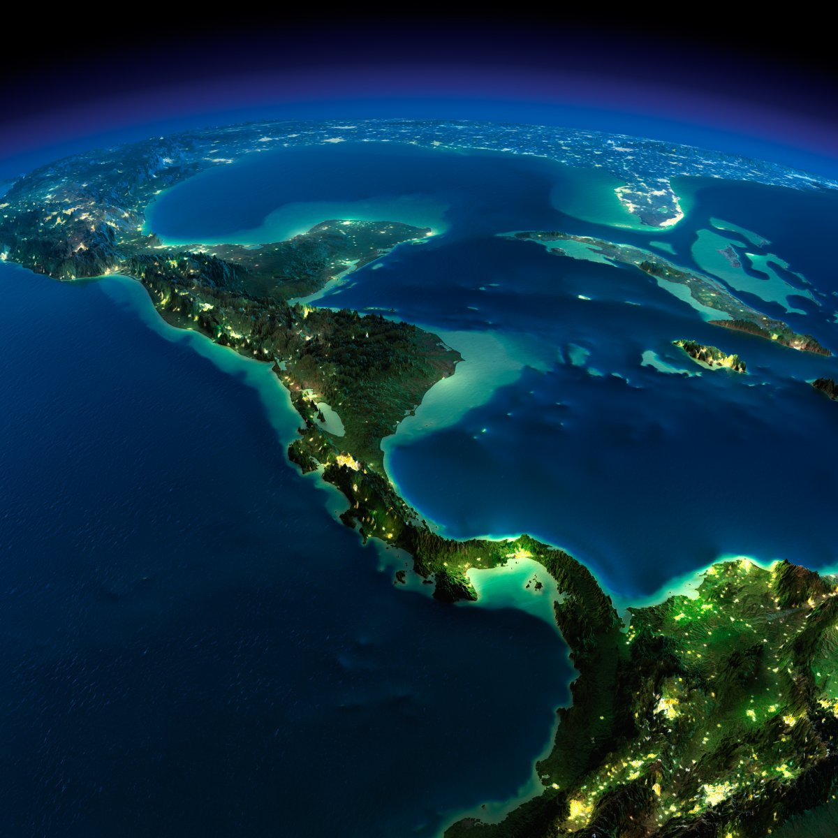 earth night photos central america by anton balazh