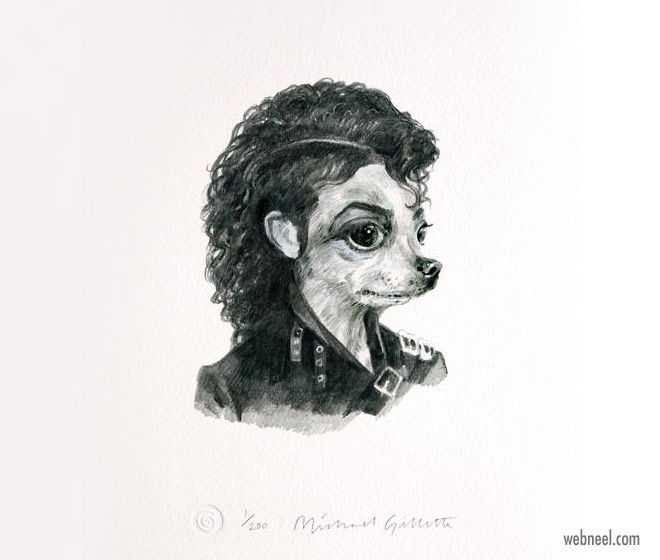 pencil drawing dog mj funny by michaelgillete
