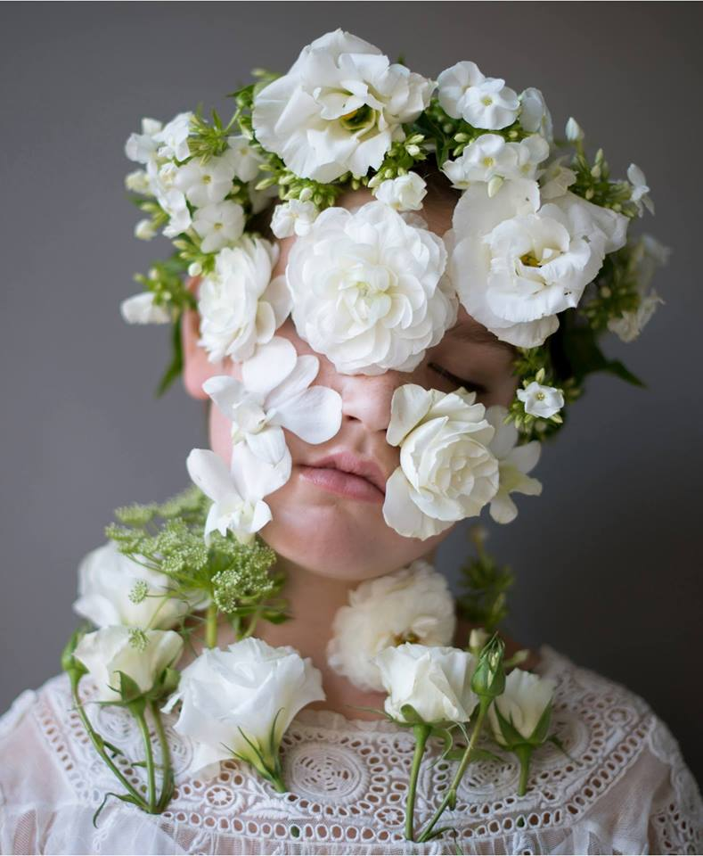 portrait photography flowerface by kristen hatji