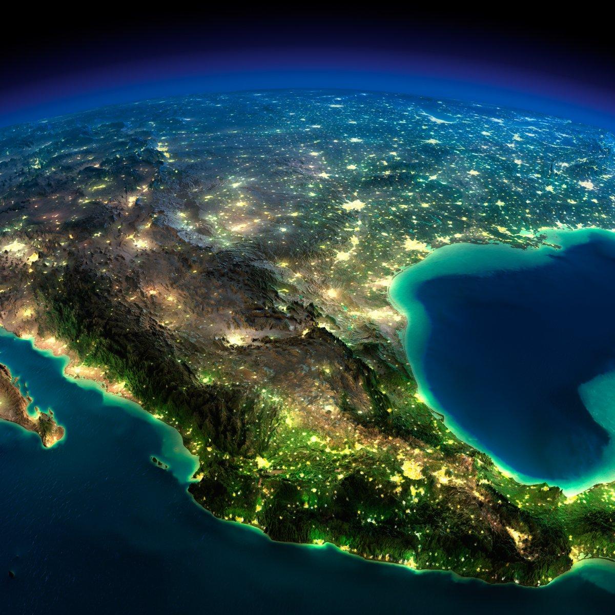 earth night photos mexico by anton balazh