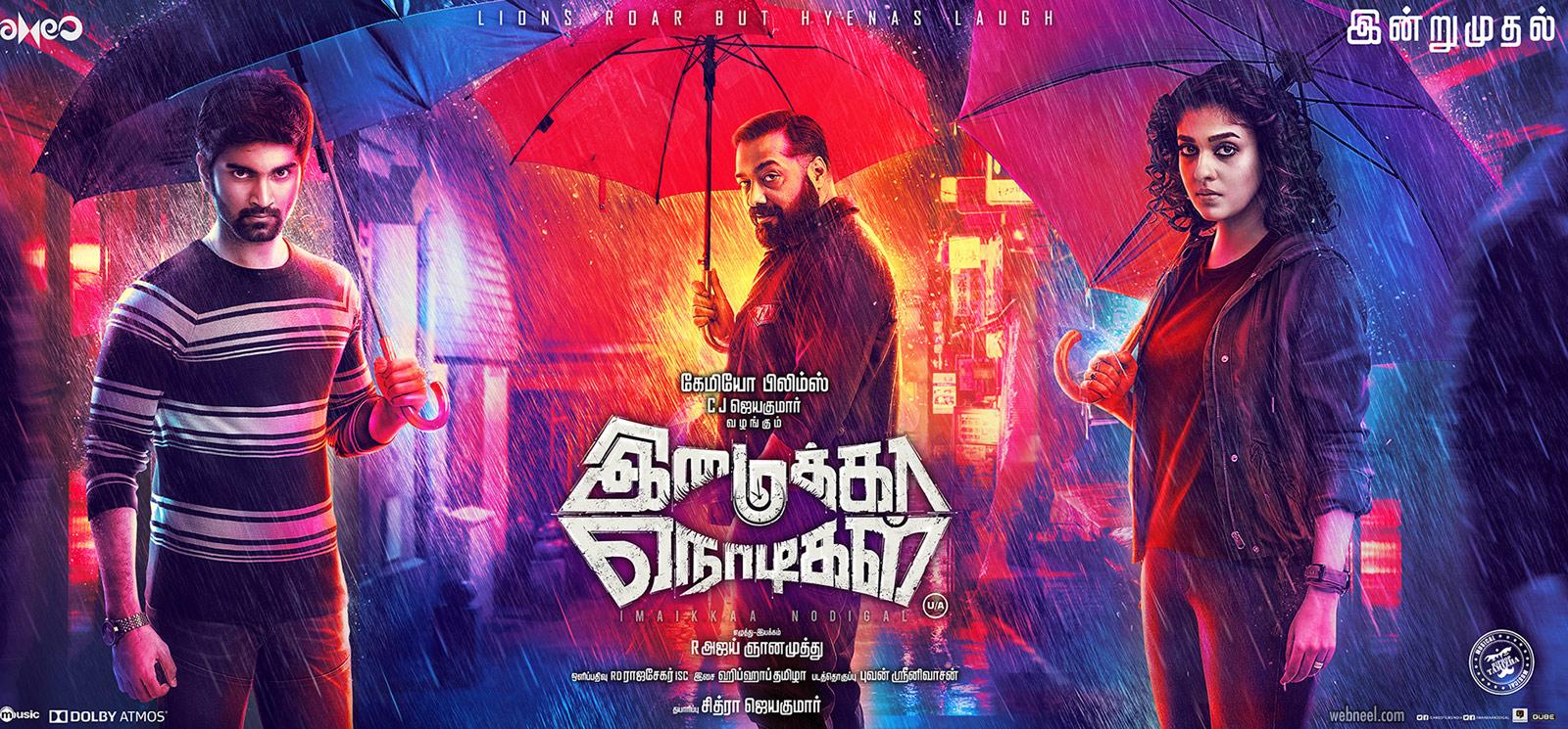 movie poster design kollywood tamil imaikanodigal
