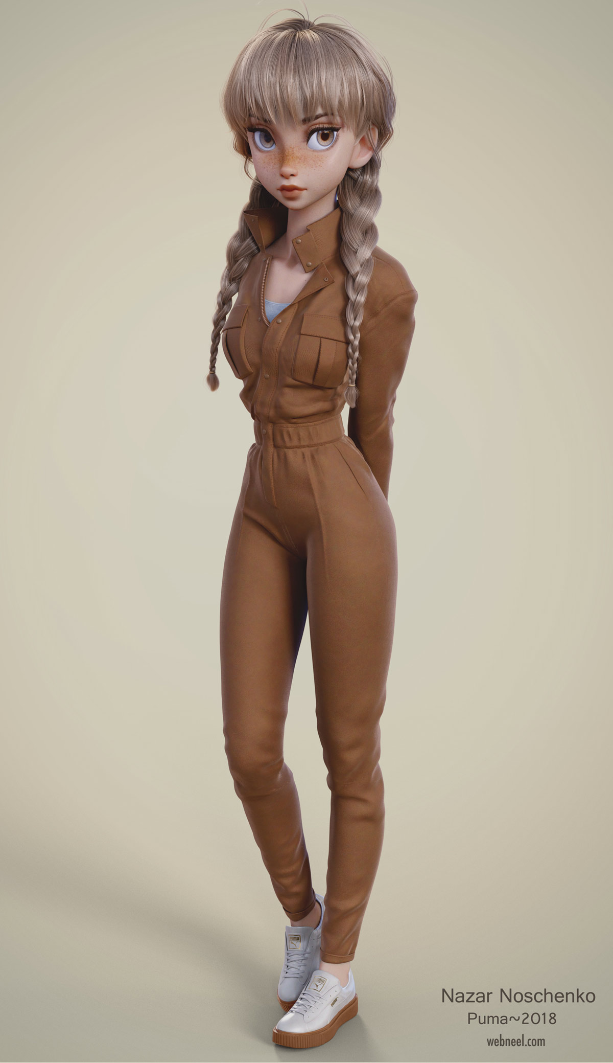 3d blender model girl