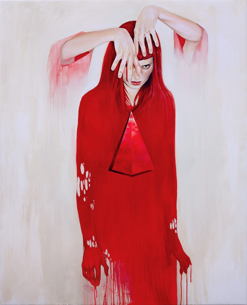 acrylic paintings last thought by martine johanna