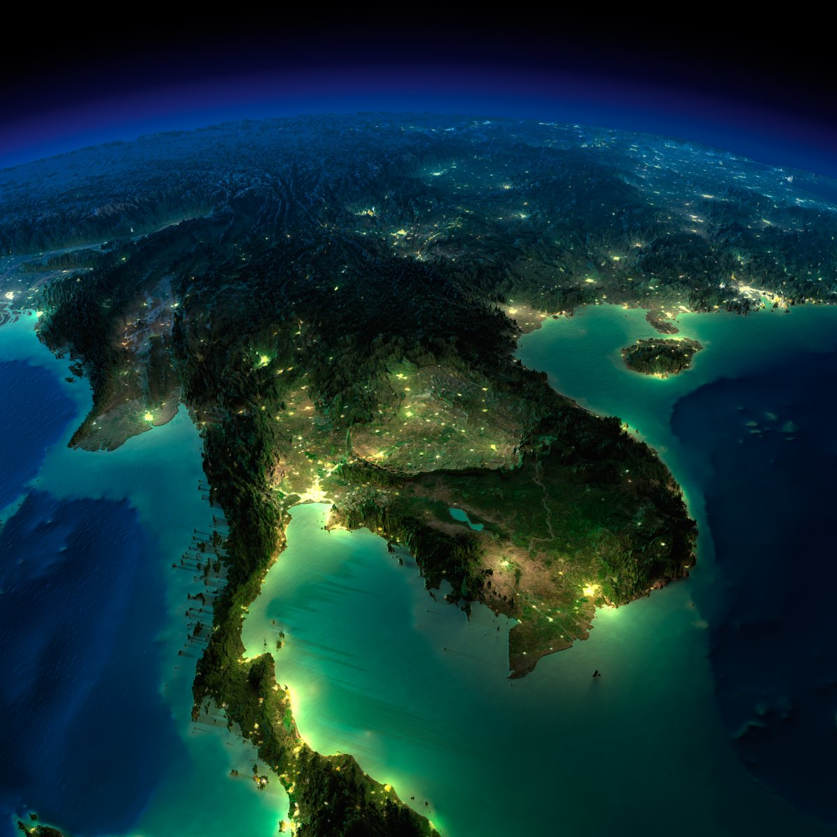 earth night photos southeast asia by anton balazh