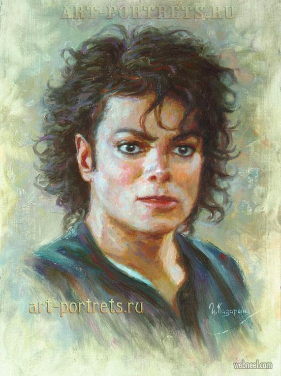 oil painting michael jackson