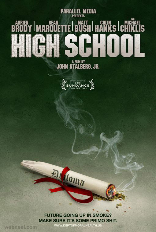 high school creative movie poster design
