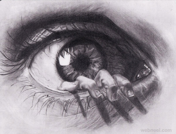 eye drawing by cerera