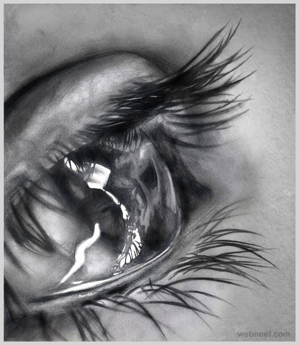 60 Beautiful and Realistic Pencil Drawings of Eyes - part 3
