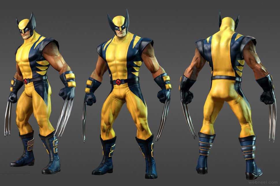 marvel 3d game character design