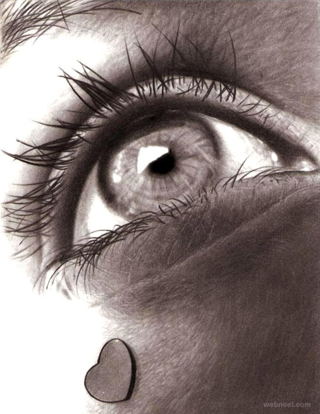 pencil drawing eyes
