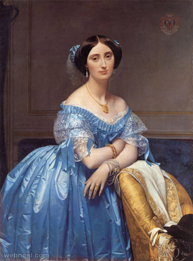 ingres princess albert de broglie old painting