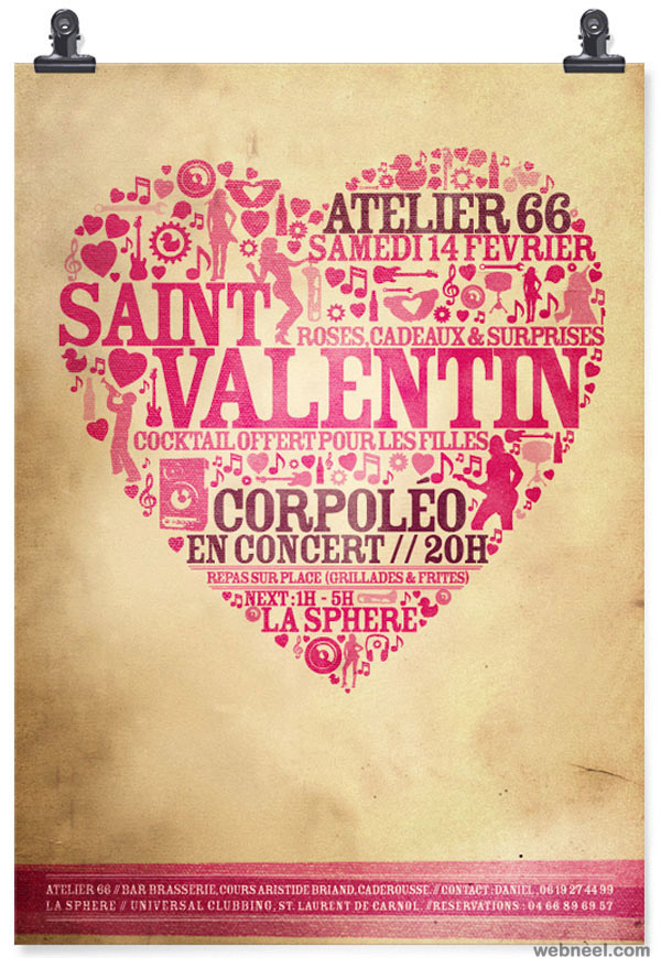 50 Best Valentines Day Design inspiration for you – Saint Valentine Card