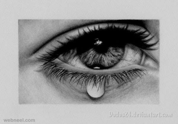 eye tears drawing