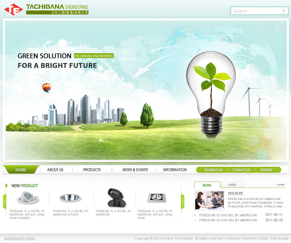 Tachibaba corporate website design 21 for Home design website free