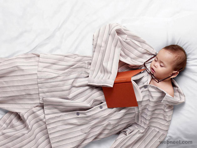 cute sleeping baby photography