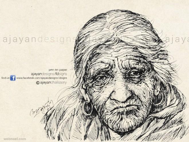 arundhati roy drawing