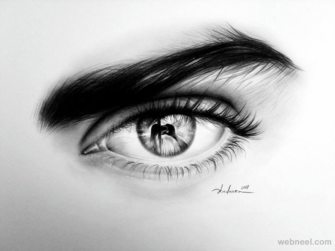 Eyes best pencil drawing 23