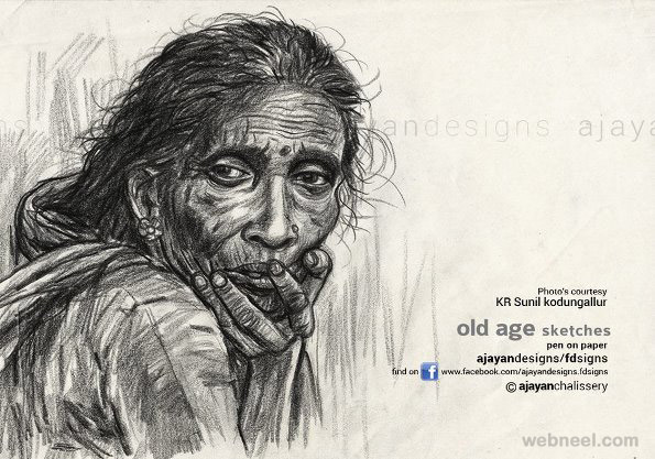 pencil drawing by ajayan