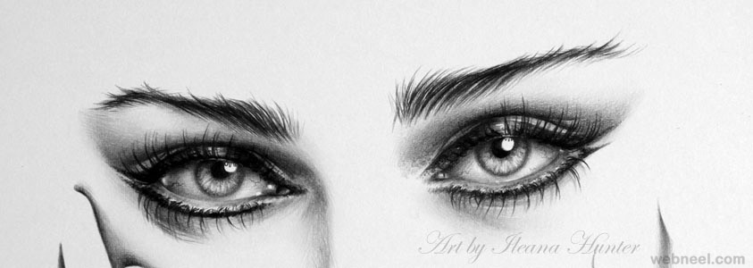 Eyes Pencil Drawing 33