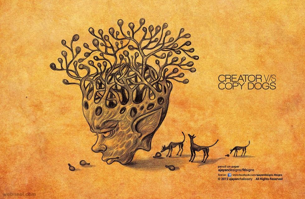 artist versus vs drawing