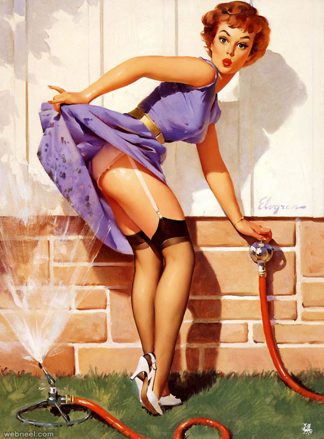 pin up paintings by gil elvgren glamourous