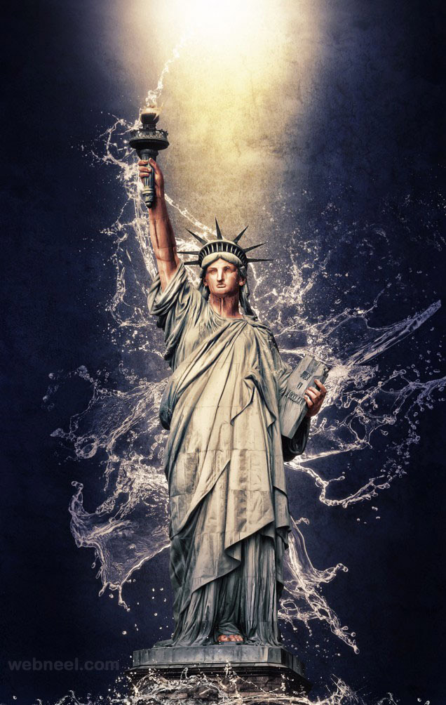 photo manipulation statue of liberty