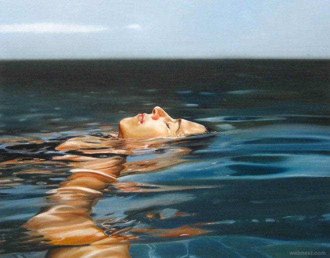 underwater paintings best beautiful water themed womain swimming pool
