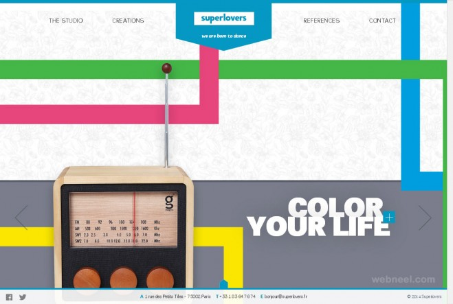html5 websites colorful