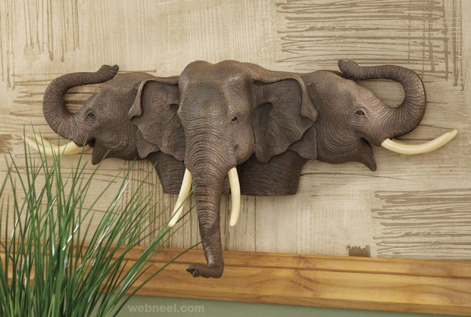 wall sculpture animal