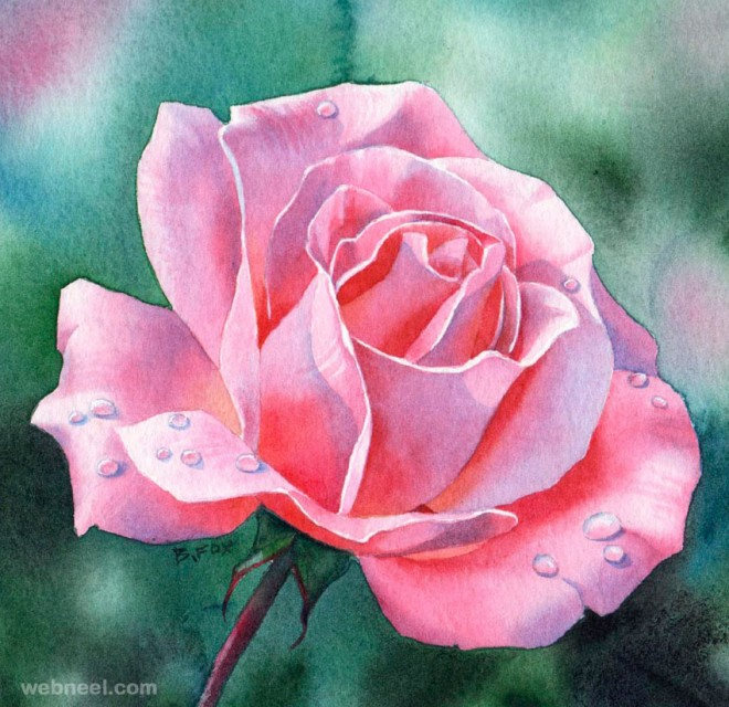 30 best watercolor paintings from top artists around the world for Watercolor flower images