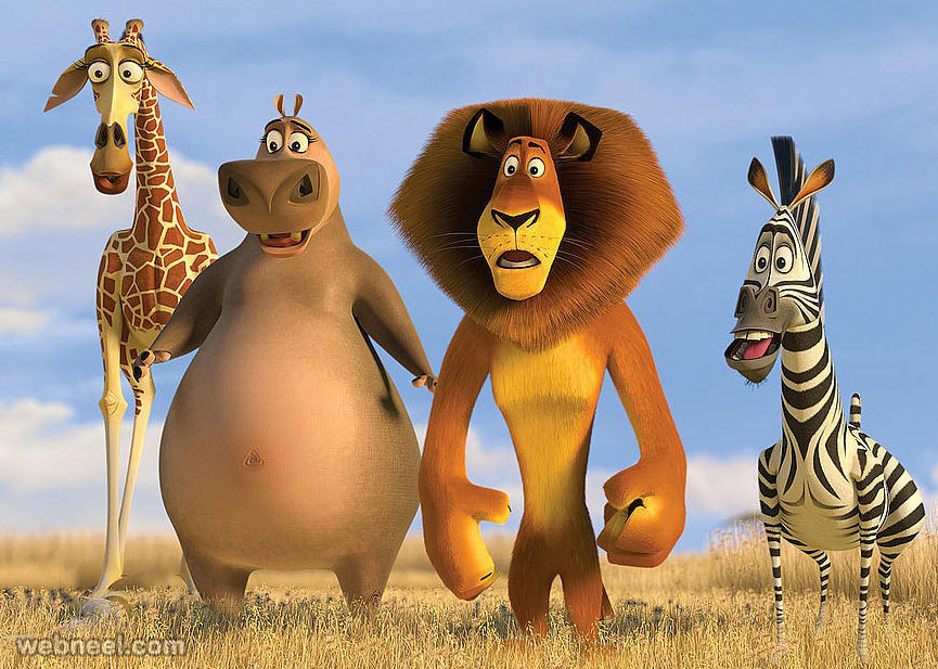 3d animals madagaskar