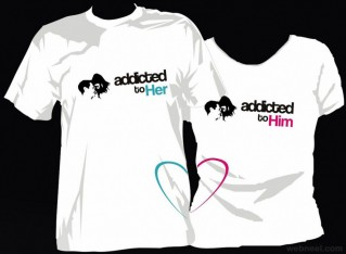valentines day gift ideas couple tshirt