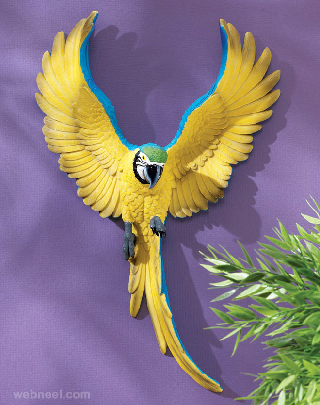 wall sculpture bird