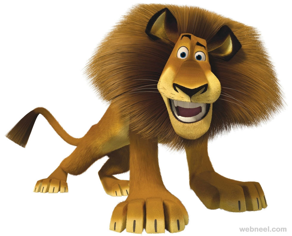 3d animals lion